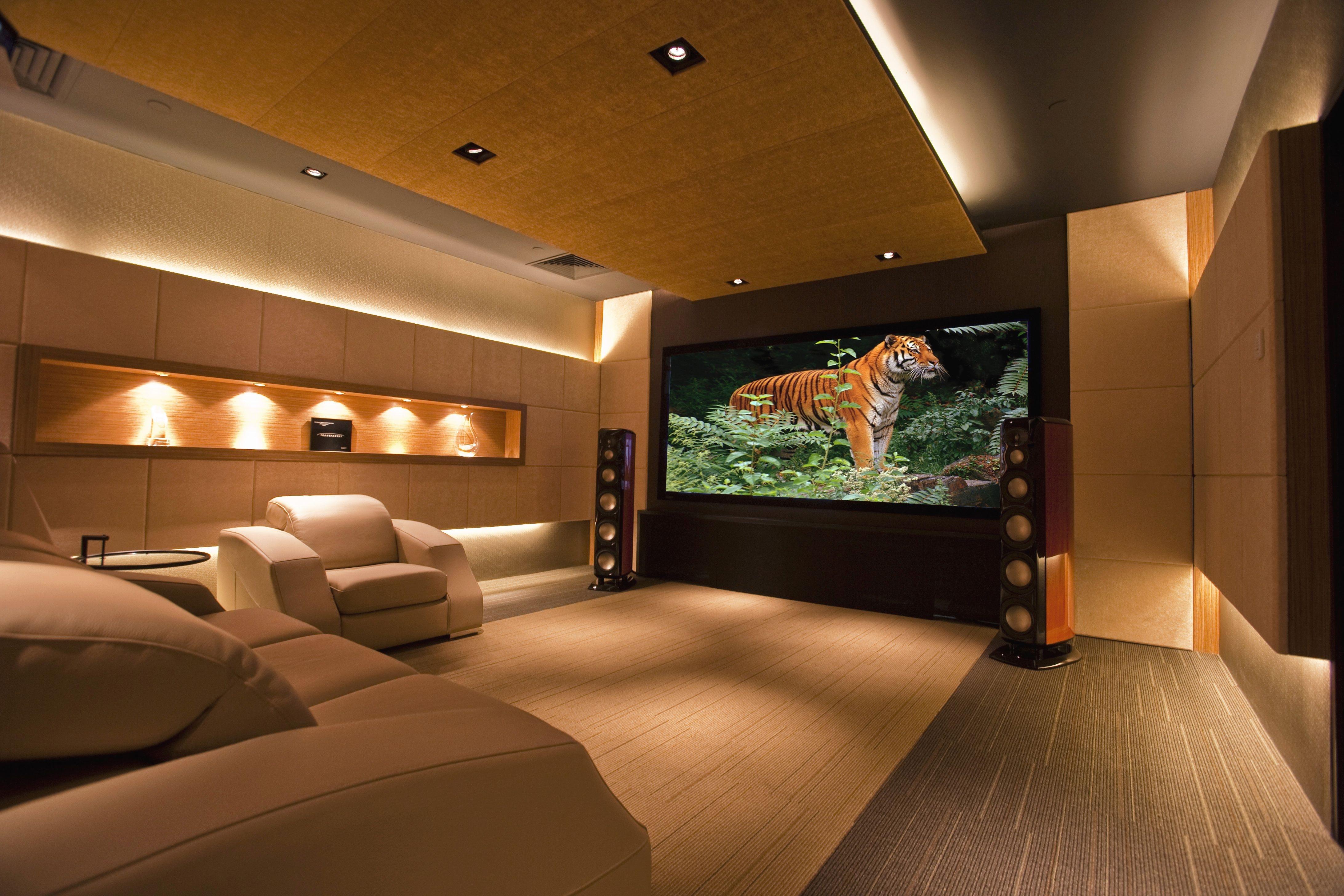 Интерьер комнат домашний кинотеатр фото
